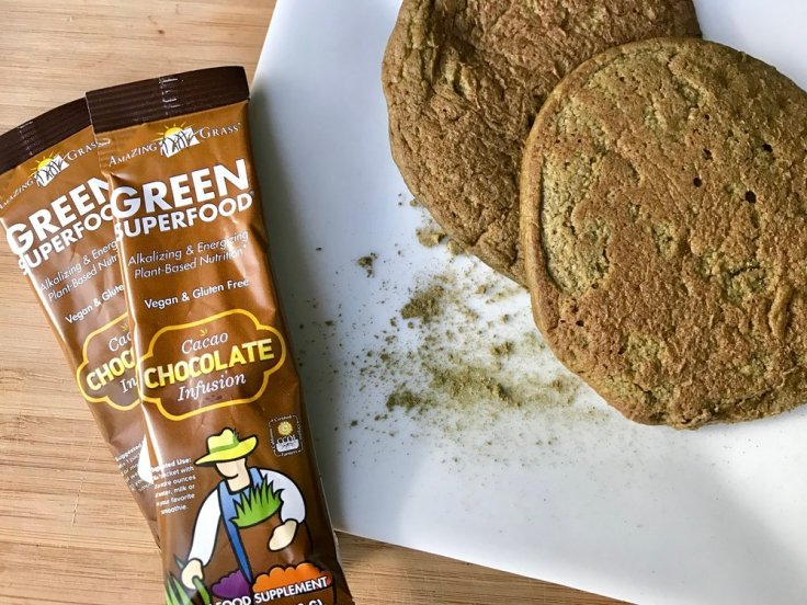 amazing superfood pancakes with cacao covered veggies - gluten free, vegan, flourless