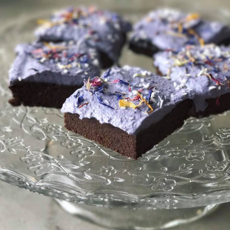 We get caught up in debating fat and carbs but don't forget about protein. Enjoy these flourless, protein rich Blueberry Lavender Brownies - gluten free, vegan, paleo