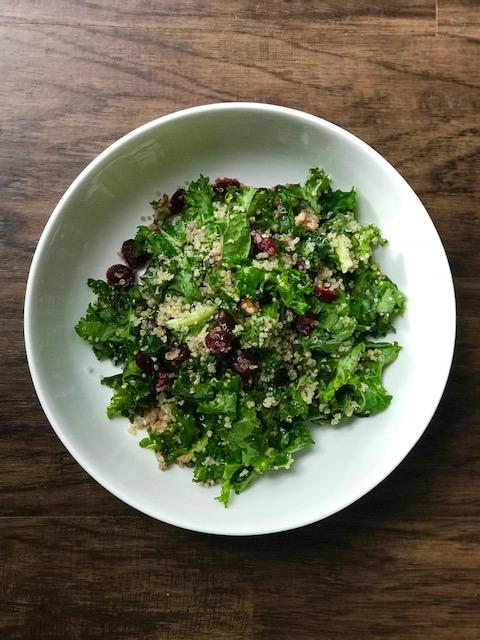 Orange Maple Vinaigrette - a perfect compliment to this Kale & Quinoa Salad