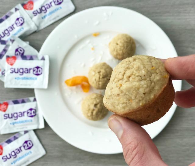 Orange Coconut Mimosa Muffins - www.getWelli.com - #getWelli #vegan #flourless #glutenfree #sugarfree