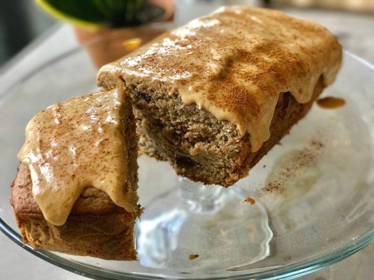 chocolate chip pb banana bread cake - #www.getWelli.com - #getWelli #glutenfree #vegan #flourless #sugarfree #mothersday