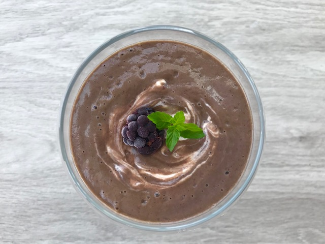 Blackberry and Mint Smoothie - www.getWelli.com - #getWelli #breakfast #smoothie #glutenfree #vegan #paleo