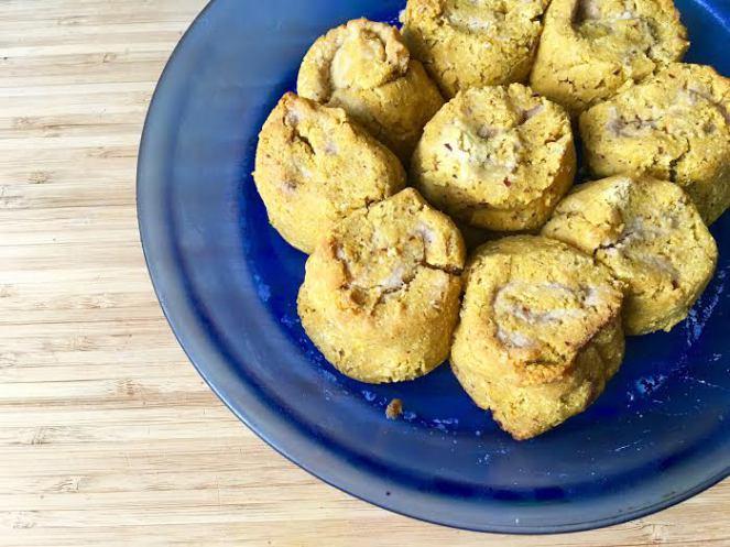 pumpkin cinnamon rolls with cranberry cream frosting - www.getWelli.com - #getWelli #vegan #grainfree #sugarfree #glutenfree #paleo