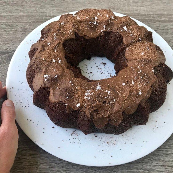 Chocolate Cherry Bundt Cake - Joyful Goodness - Kristine Palkowetz - vegan, gluten free, grain free, keto