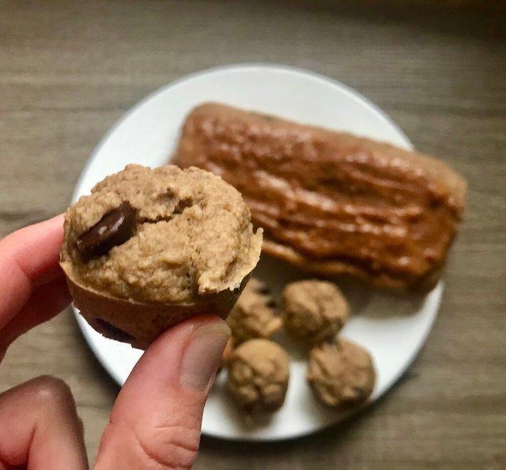 Chocolate Chip Peanut Butter Mini muffins - joyful goodness - vegan - gluten free - breakfast