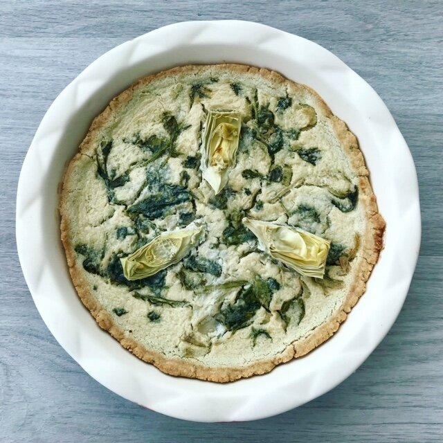 Spinach Artichoke Quiche - www.JoyfulGoodness.com - #beJoyful #JoyfulGoodness #breakfast #grainfree #vegan #paleo.jpg