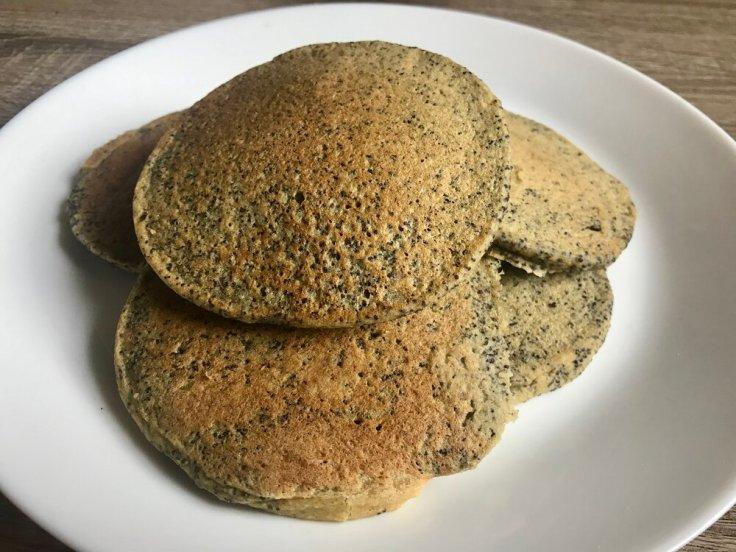 Simple Sunday Pancakes | www.Joyfulgoodness.com | vegan | gluten free | orange poppyseed