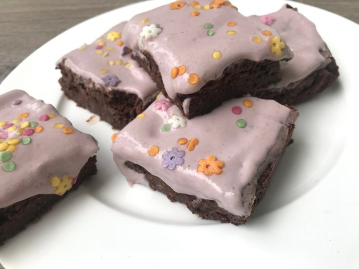 Strawberry Frosted Protein Brownies from Joyful Goodness - grain free - sugar free